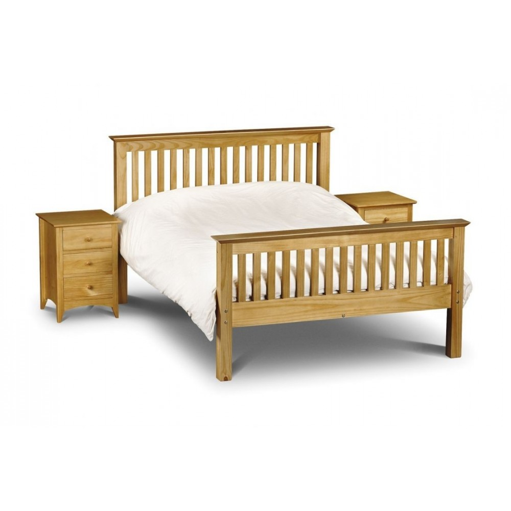 Barcelona Bed High Foot End - Pine