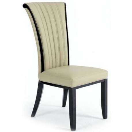 Fabriano Italian Designer Leather Dining Chair