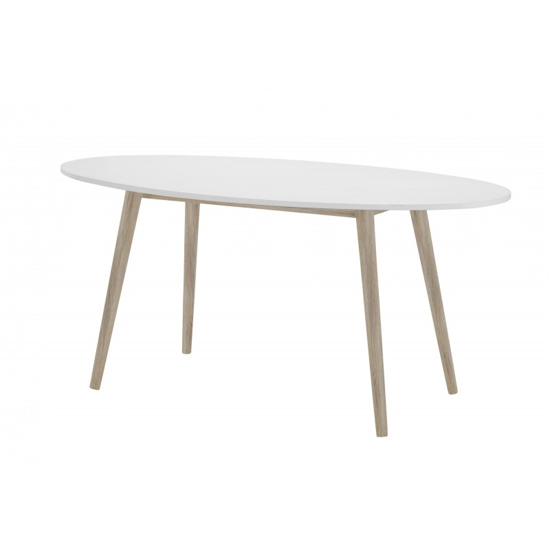 White and Oak Effect Table