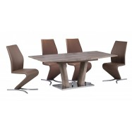 Natural And Oak Effect Extending Table