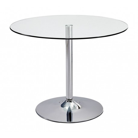 Elena Round Clear Glass Table