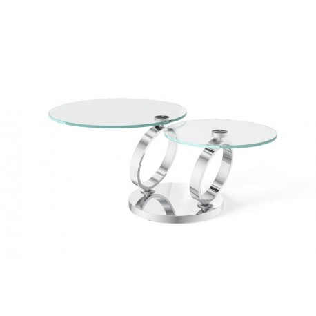 Olympia Glass Swivel Extending Coffee Table
