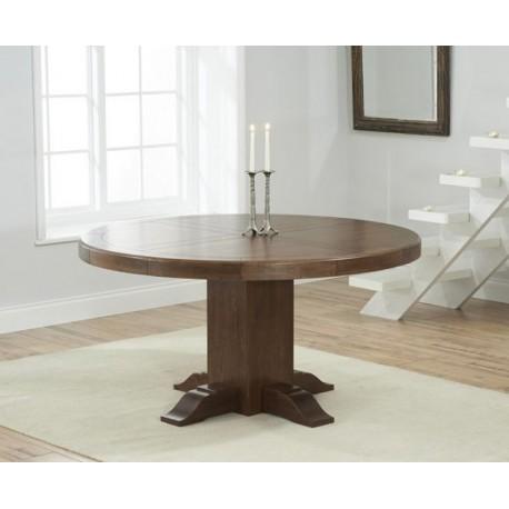 Turin Dark Oak Round Dining Table