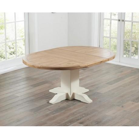 Turin Oak & Cream Extending Dining Table