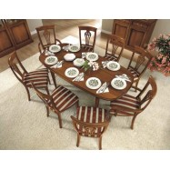 Nostalgia Walnut Oval Extending Dining Table