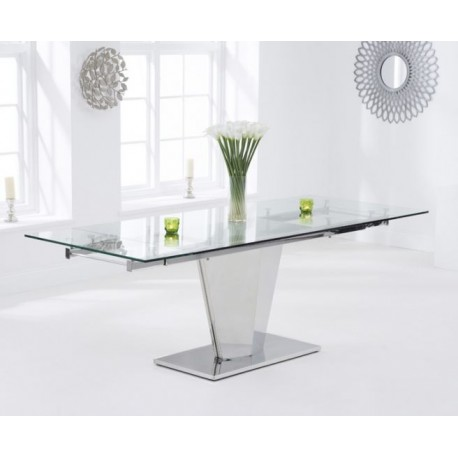 Lucille Extending Glass Dining Table