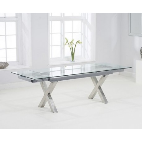 Cilento Glass Extending Dining Table