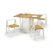Folding Dining Table and Chair Set
