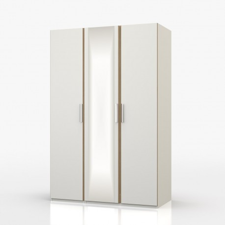 Waterfall 3 Door Wardrobe With Mirror - OL963
